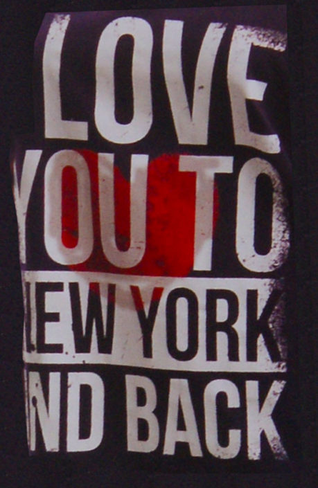 DOB Photo Bigshirt mit slogan i love you to New York and Back