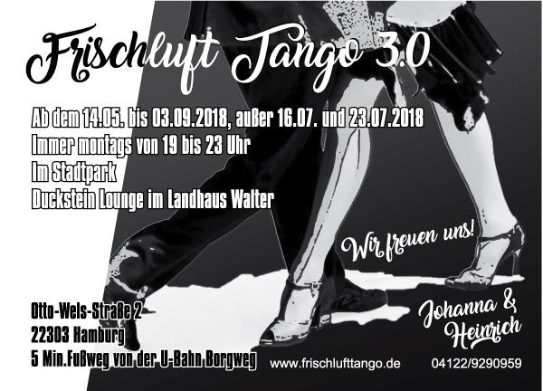 Flyer für Tangoveranstaltung tanzende Beine