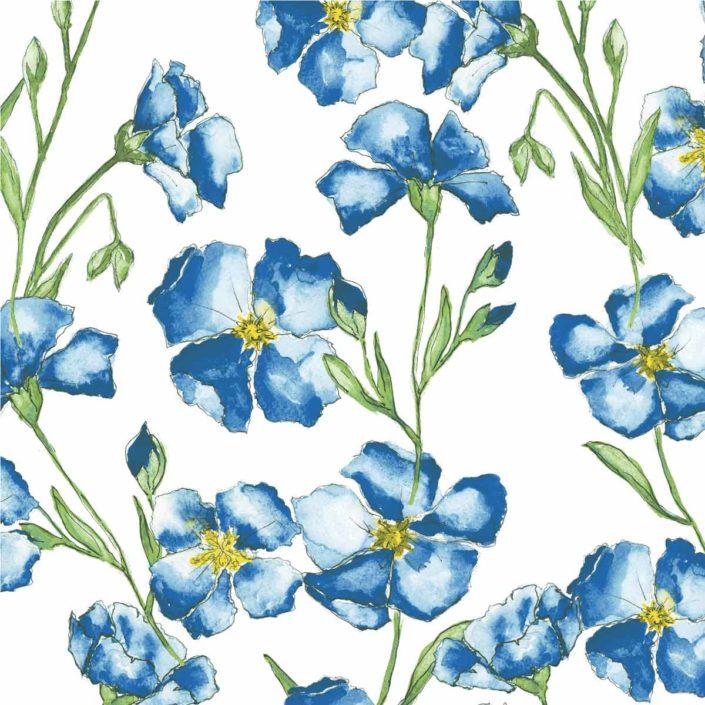 Heimtextilien Allover Aquarellblumen