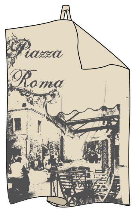 platzierter print Geschirrtuch Vintage Rom