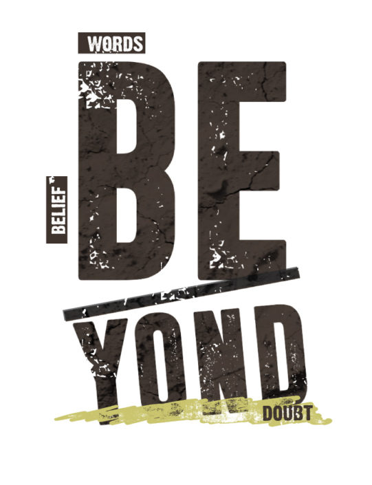 Platzierter Print Boys schriftzug BeYond Doubt