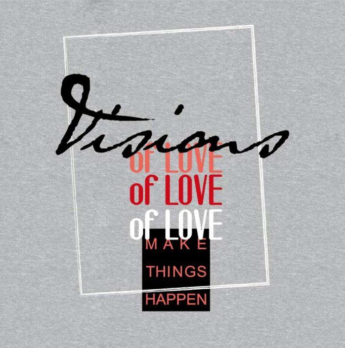 DOB Print Schriftzug Visions of Love in Rahmen