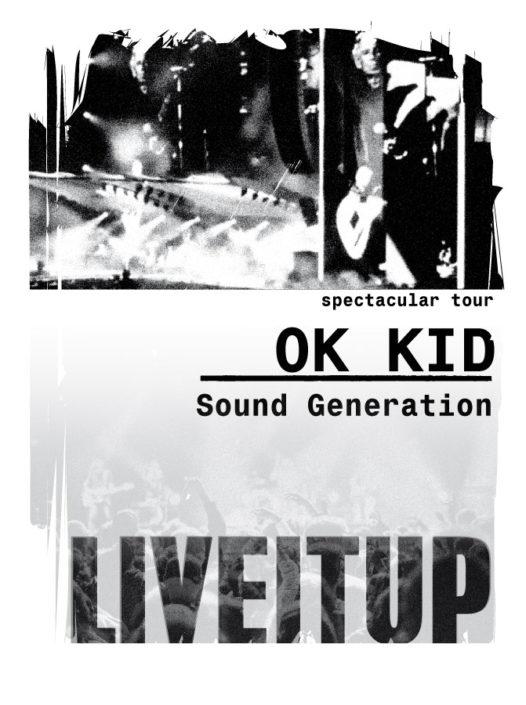 PhotprinT Schwarz weiss Typo OK Kid Sound Generation Festivalimages