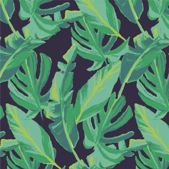 Sportswear Allover Blätter Gummibaum