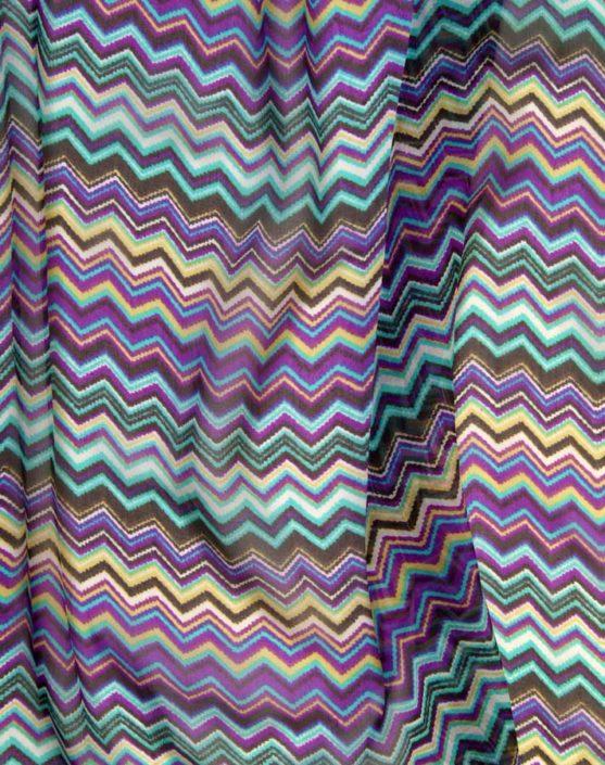 Photo Allover ZickZack Linien Multicolor