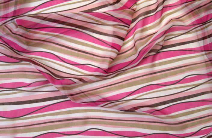 Photo Allover geschwungene Streifen pink weiss Braun
