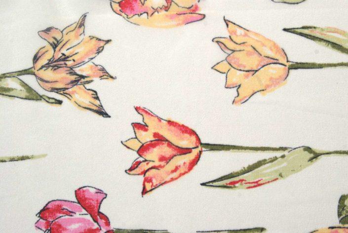 Photo Allover Tulpen handgezeichnet in waagerecht angeordnet