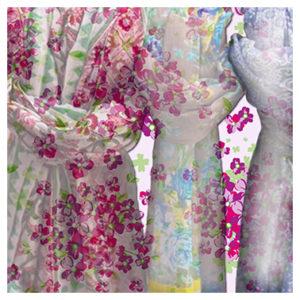 Textilgrafik Accessoires-Kollage Accessoires Tücher verschmelzen mit Background