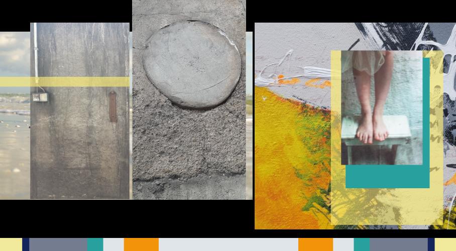 Collage Moodboard mit Farben