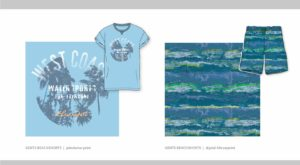 Modedesign HAKA Print West Coast Allover Water